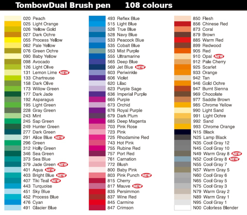 Tombow Dual Brush Pen Black And Grays Choice Of 12 Colours Ebay